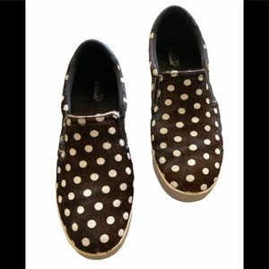Dr. Scholl's Scout Polka Dot Calf Hair Sneakers